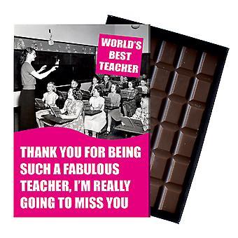 Verlassen Geschenk für beste Lehrer Lehrassistent Geschenk verpackt Schokolade Grußkarte vorhanden CDL221