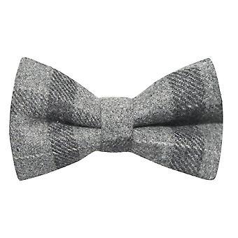 Lichtgrijs & Dark Grey check strikje, Tweed, tartan, Plaid