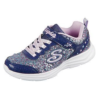 Skechers S Lights Glimmer Kick 20267NVLV universal all year kids shoes