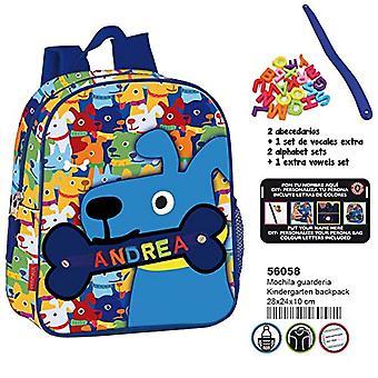 Montichelvo Montichelvo Kinderg. Backpack Pr My Little Bone Folder - 28 cm - Multicolor (Multicolour)