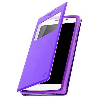 Smartphone case 6 ' ' kortholder vindue video stativ, slide lilla