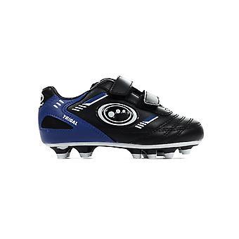 Optimum Tribal Strap valettu lasten jalka pallo Boot musta/sininen