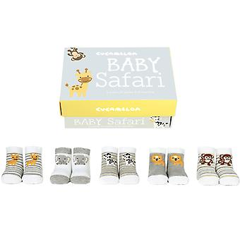 Cucamelon Baby Safari Sock Gift Set