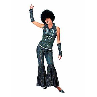 Disco Girl Jumpsuit Black Sequins 70s Women's Costume Love Costume Dames