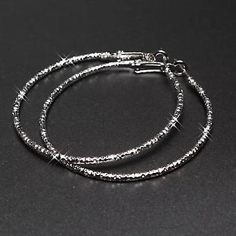 Silver Plated Fashion Diamond Cut Hoops