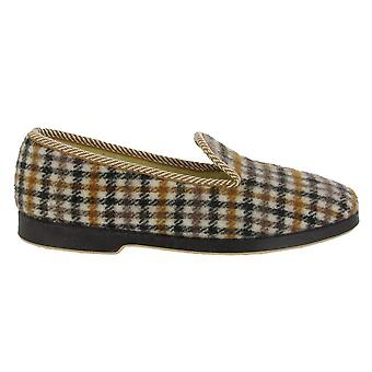 GBS Everett Mens Check Slipper / Mens Slippers