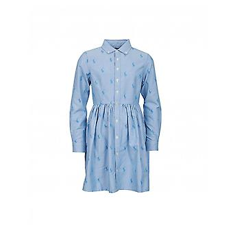 Polo Ralph Lauren Childrenswear All Over Logo Belted Oxford Dress