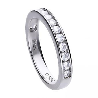 Diamonfire Channel Set Half Eternity Ring R3629