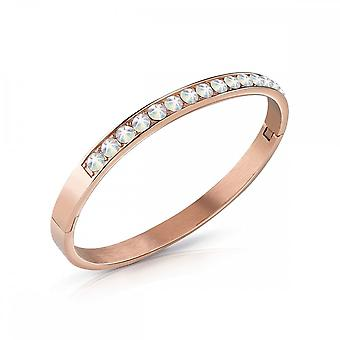 Guess Jewellery Guess Rose Gold Aurora Boreale Crystal Bangle UBB78114-L