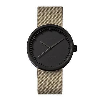 Leff Amsterdam LT71013 D38 Black Tube Sand Cordura Wristwatch