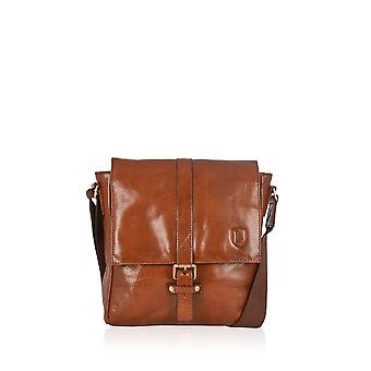 Fenton Cuir Small Cross Body Messenger en marron marron