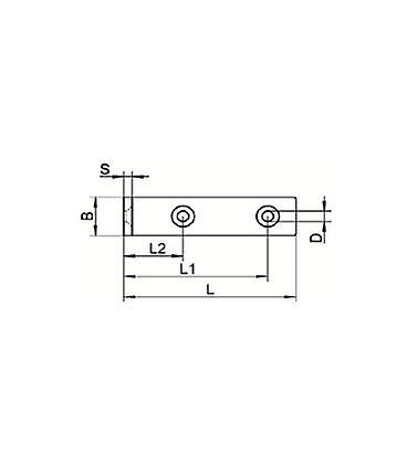 Heavy Duty Angle Bracket - T304 (a2) Stainless Steel - 31 Mm Length