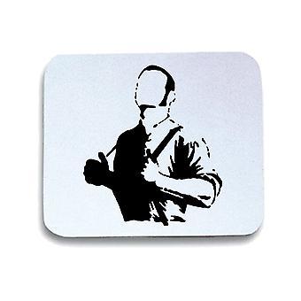 White mouse pad pad wtc1451 proud skinhead