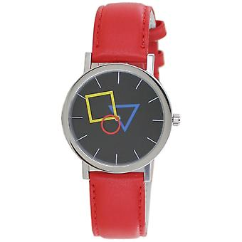 Aristo Bauhaus Unisex Watch Stainless Steel 4D86IR Leather Red