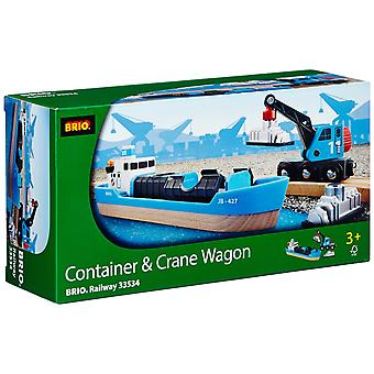 BRIO Container en kraan wagen