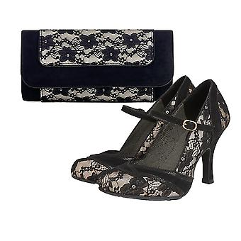 Ruby Shoo Mujeres's Cleo High Heel Mary Jane Zapatos & Matching Charleston Bag