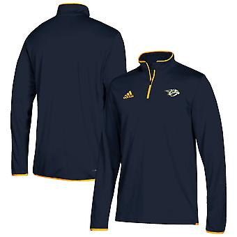 Adidas Nhl Nashville Predators Climalite Quarter-zip Pullover Jacket