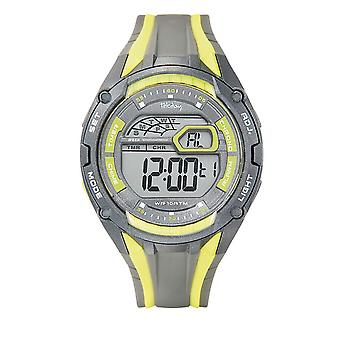 Tekday 655921 Watch - Digital Multifunction Silicone Yellow and Grey Men