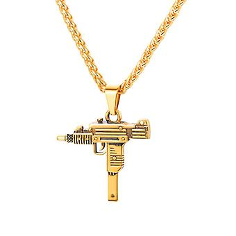 Necklace, automatic Weapon-gold