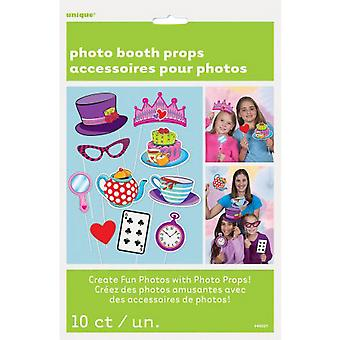 Unique Party Birthday Tea Party Photo Booth Props (Pack Of 10)