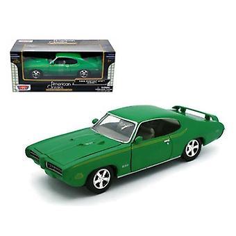 1969 Pontiac GTO Judge Green 1/24 Diecast Model Car par Motormax