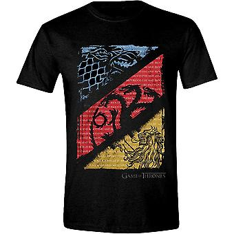 Game of Thrones House Stark Targaryen Lannister T-Shirt officiel