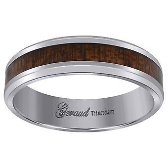 Titanyum Mens Brown Ahşap Kainat Comfort Fit Düğün Bandı Erkekler için 6mm Takı Hediyeler - Yüzük Boyutu: 7-12