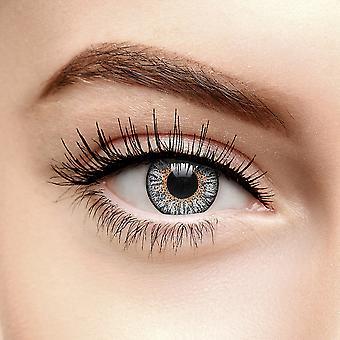 Lentes de contato coloridas de platina cinza tri tone (90 dias)