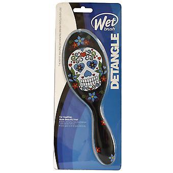 Brush humide la plus étonnante démêlant pinceau bleu pour des cheveux plus sains de plus belle