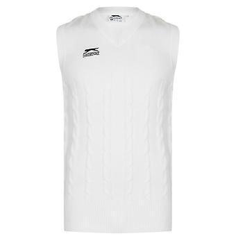 Slazenger Mens Classic Vest Mouwloos V-Neck Sportshirt Top