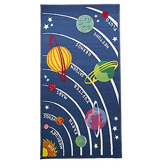 Flair Rugs Childrens/Kids Planets Design Bedroom Rug