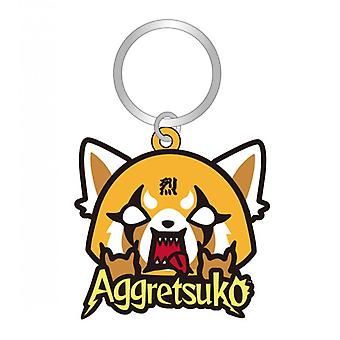 PVC Key Chain - Aggretsuko - Soft Touch New 78016