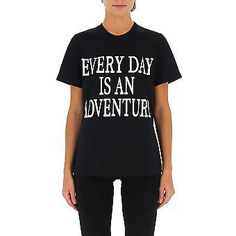 Alberta Ferretti 07011672j1555 Dames's Zwart Katoen T-shirt