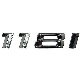 Silver Chrome BMW 118i Car Model Rear Boot Number Letter Sticker Decal Badge Emblem For 1 Series E81 E82 E87 E88 F20 F21 F52 F40