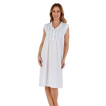 Slenderella ND55250 Women's Cotton Embroidered Nightdress