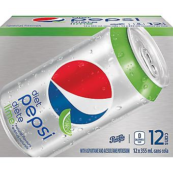 Diet Pepsi Lime-( 355 Ml X 12 Cans )