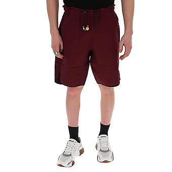 Corelate 213104465 Men's Burgundy Cotton Shorts