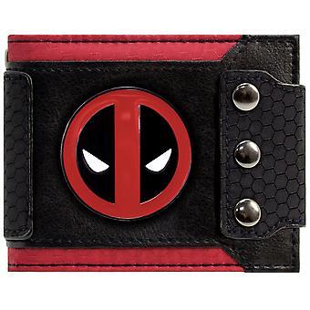 Marvel Deadpool Badge Triple Buttoned ID & Card BiFold Wallet