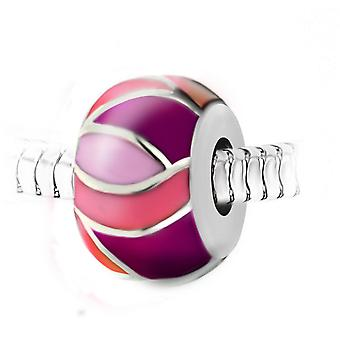 Steel pearl charm by SC Crystal BEA0248-ROSE