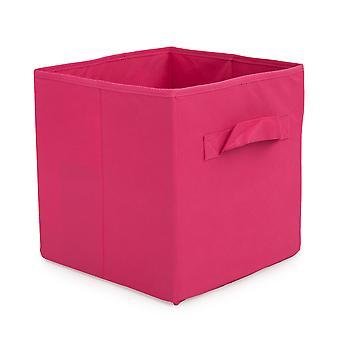 Essentials von Loft 25 Rosa zusammenklappbare Veranstalter Aufbewahrungsbox | Entwickelt für Cube Aufbewahrungsmöbel | Schlafzimmer Lagerung | Faltbare und langlebige Stoff | Carry Handles