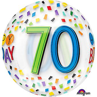 アナグラム幸せ第 70 誕生日虹 Supershape Orbz バルーン