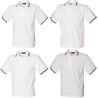 Henbury Mens 65/35 Tipped Polo Shirt