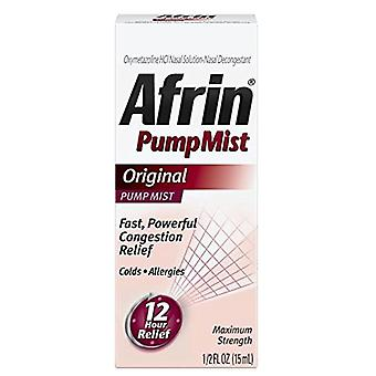 Afrin pump mist 12 hour relief, maximum strength, original, 0.5 oz