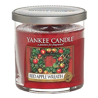 Yankee Candle Small Pillar Candle Red Apple Wreath