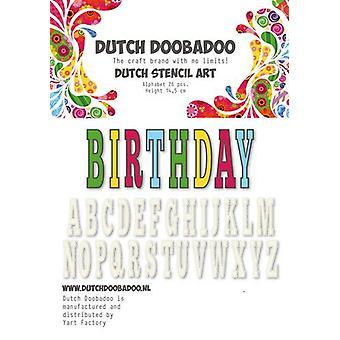 Niederländisch Doobadoo niederländische Schablone Art Alphabet 5 (450 mm) 470.990.113