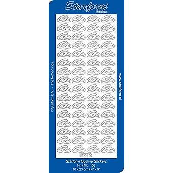 Starform Stickers Wedding rings 1 (10 Sheets) - Gold - 0108.001 - 10X23CM