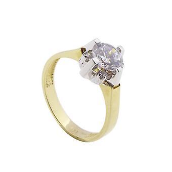 14 carat gold zirconia ring