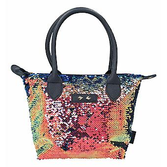 Depesche 10211 Handbag With Sequins Trend Love Blue