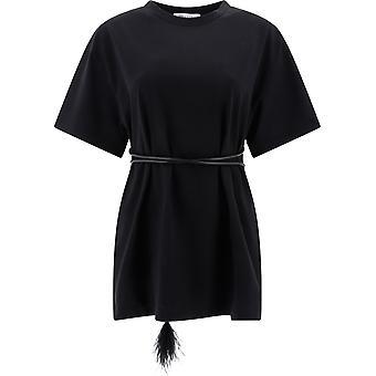 Valentino Tb0mg06u5hl0no Kvinnor's Svart bomull T-shirt