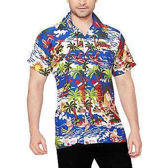 Club cubana men's regular fit classic short sleeve casual shirt ccx44